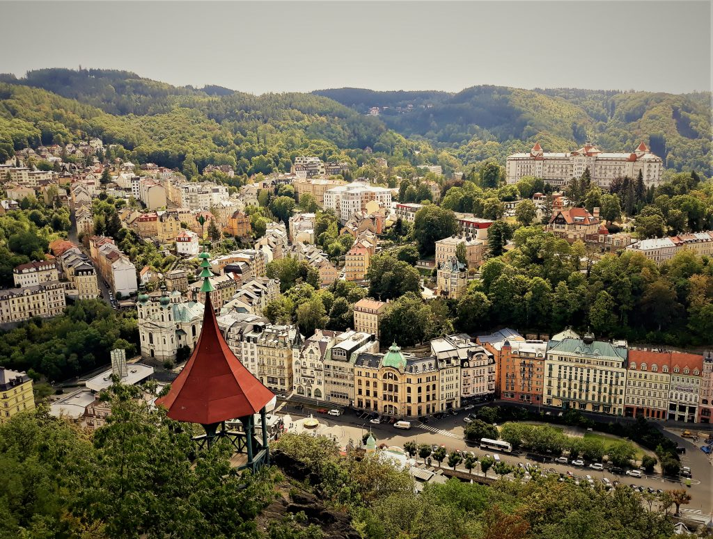 Spa Karlovy Vary view from the Deer Jump Lookout