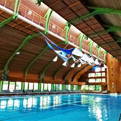 Upside down ship - swimming pool of Naturmed Hotel Carbona